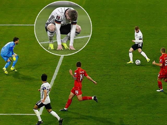 Timo Werner bỏ lỡ cơ hội khó tin khiến Đức thua sốc, bị fan chế giễu