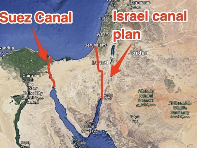 Kế hoạch dùng 520 quả bomhạt nhân của Mỹ, tạo kênh đào thay thế Suez ở Israel