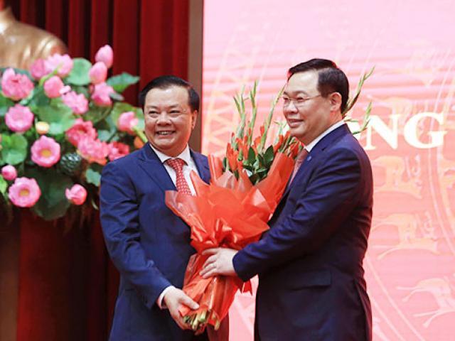Ông Đinh Tiến Dũng nói gì khi nhậm chức Bí thư Thành ủy Hà Nội?