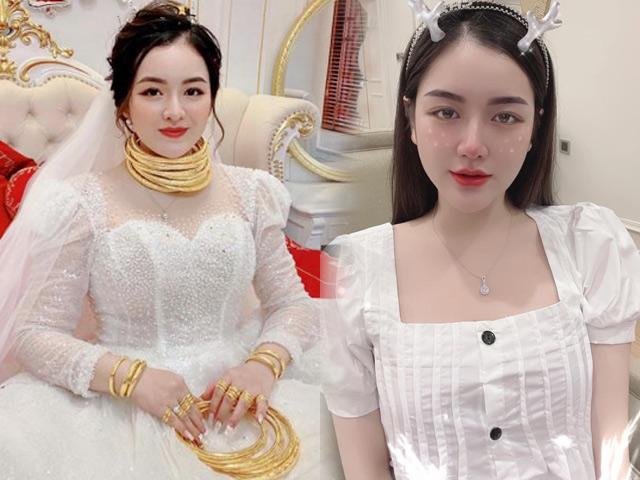 Nữ sinh Ngoại thương đeo vàng trĩu cổ, kín tay trong ngày cưới