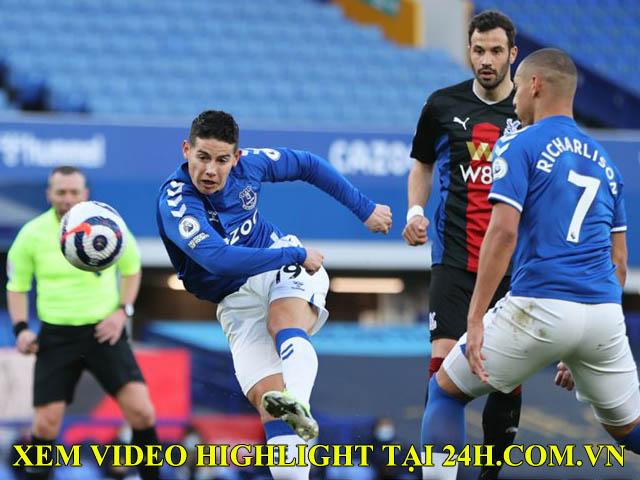 """Video Everton - Crystal Palace: James Rodriguez """"nổ súng"""", trái đắng phút 86"""