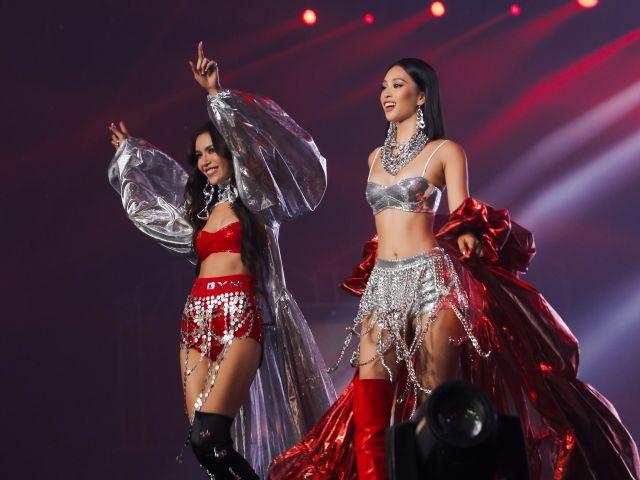 Tiểu Vy, Minh Tú xuất hiện như nữ thần tại Rap Việt All-Star
