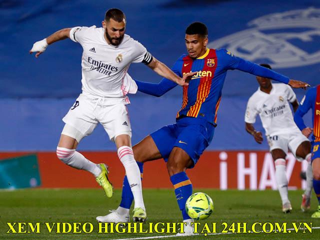 Trực tiếp bóng đá Real Madrid - Barcelona: Xà ngang hú vía (Hết giờ)