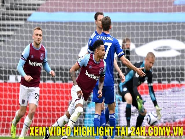 Video West Ham - Leicester: Rực rỡ người hùng Lingard (Hiệp 1)