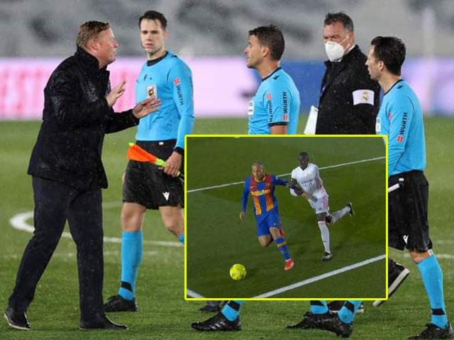 Tranh cãi Barca bị từ chối phạt đền, Koeman tố trọng tài thiên vị Real Madrid