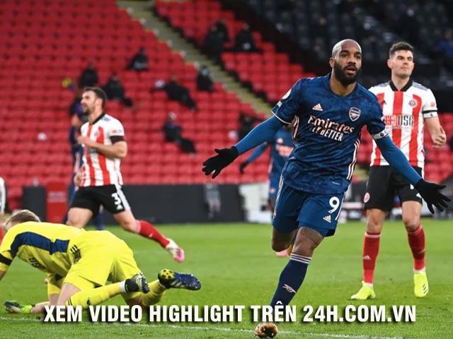 Video Sheffield United - Arsenal: Đại tiệc mãn nhãn, siêu sao lập cú đúp