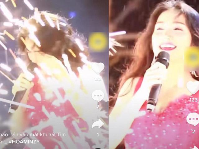 Hòa Minzy gặp sự cố ngay khi đang biểu diễn trên sân khấu