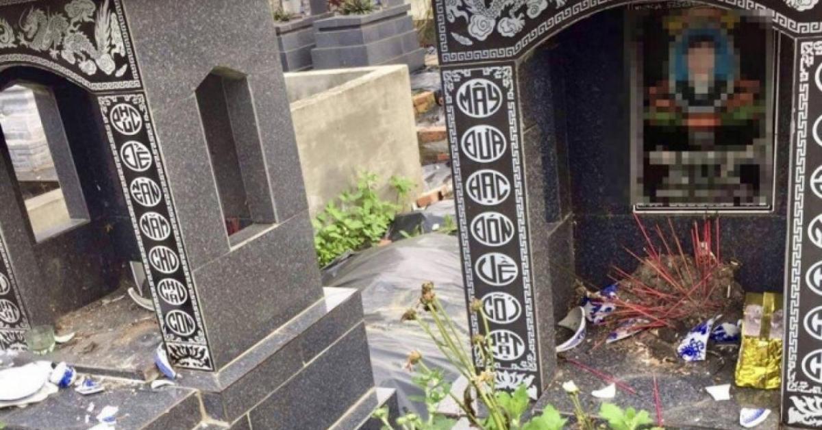 Hải Phòng: Công an vào cuộc điều tra nhiều ngôi mộ bị đập phá bất thường