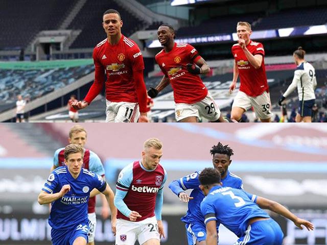 MU bám đuổi Man City, West Ham & Liverpool mưu vượt Chelsea đua top 4 Ngoại hạng Anh