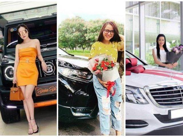 """Soi xế hộp bạc tỷ của Di Băng, Hải Băng và loạt """"mỹ nhân"""" Việt được chồng tặng"""