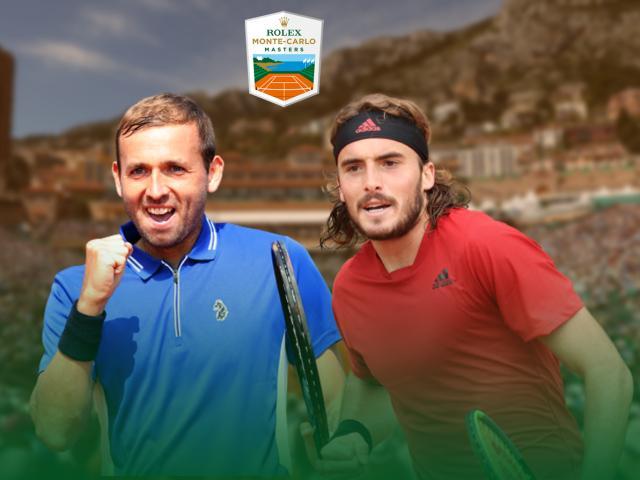 Video tennis Evans - Tsitsipas: Vùi dập đáng sợ, hiên ngang vào chung kết (BK Monte Carlo Masters)