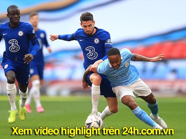Video Chelsea - Man City: Bước ngoặt pha phản công, vé chung kết xứng đáng