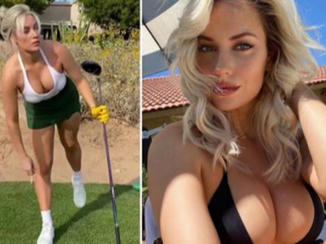 """Kiều nữ golf gây sửng sốt, dùng """"vòng 1 khủng"""" đòi tiền người hâm mộ"""