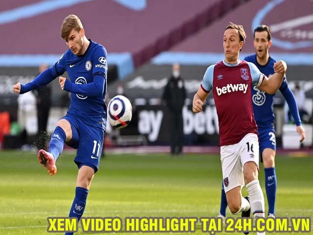 Video West Ham - Chelsea: Werner lập công, vững vàng top 4