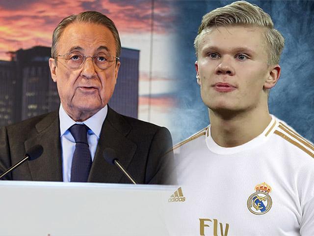 """Real Madrid săn """"bom tấn"""": Ông trùm Perez bạo chi 154 triệu bảng đón Haaland"""