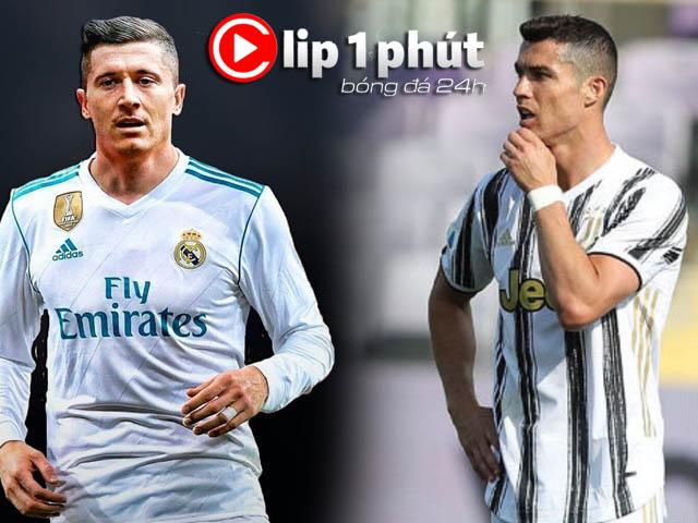 """Real mê mẩn Lewandowski, nhiều """"ông lớn"""" tiếp bước Juventus thành cựu vương (Clip 1 phút Bóng đá 24H)"""