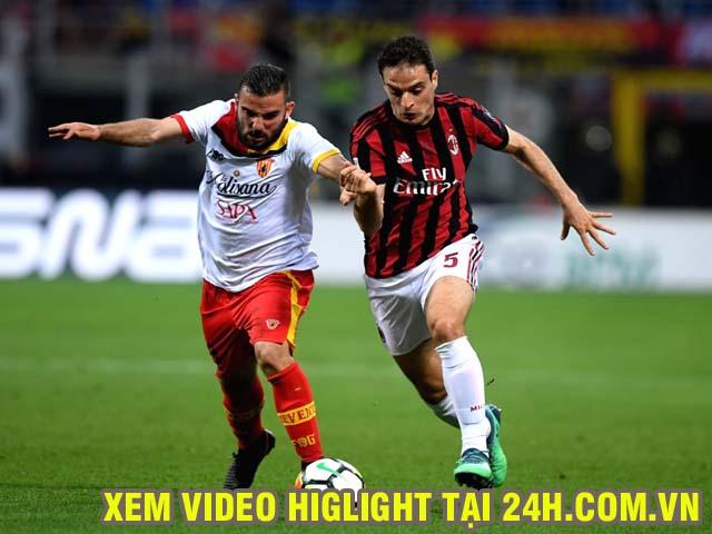 Video AC Milan - Benevento: Khác biệt ngay phút thứ 6, đua top 4 đến cùng