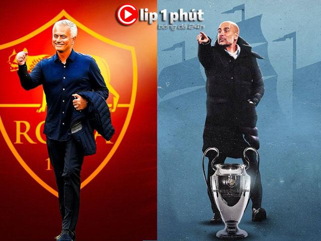 """Mourinho về AS Roma dễ sa lầy như Tottenham, Pep chờ vượt Sir Alex thành """"Vua Cúp C1"""" (Clip 1 phút Bóng đá 24H)"""