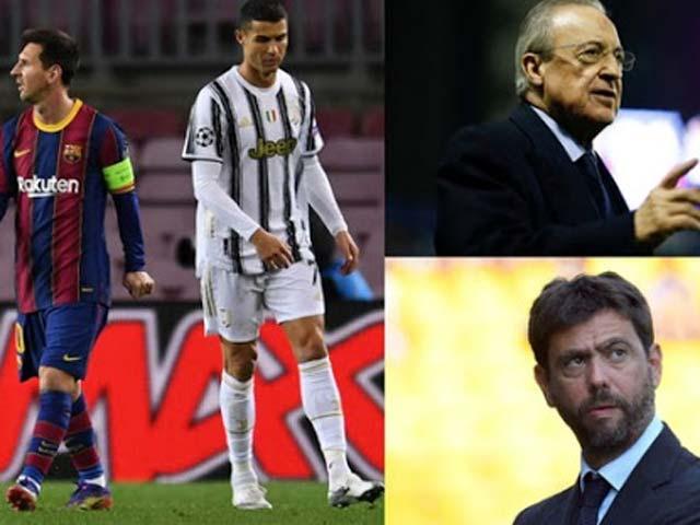 """Messi - Ronaldo nguy cơ lỡ 2 mùa Cúp C1, UEFA tung đòn """"kết liễu"""" Super League"""