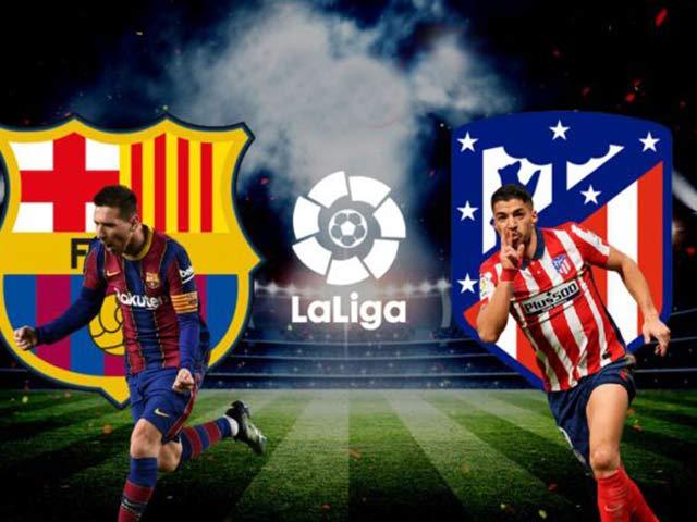 Trực tiếp bóng đá Barcelona - Atletico Madrid: Messi - Griezmann đấu Suarez - Correa
