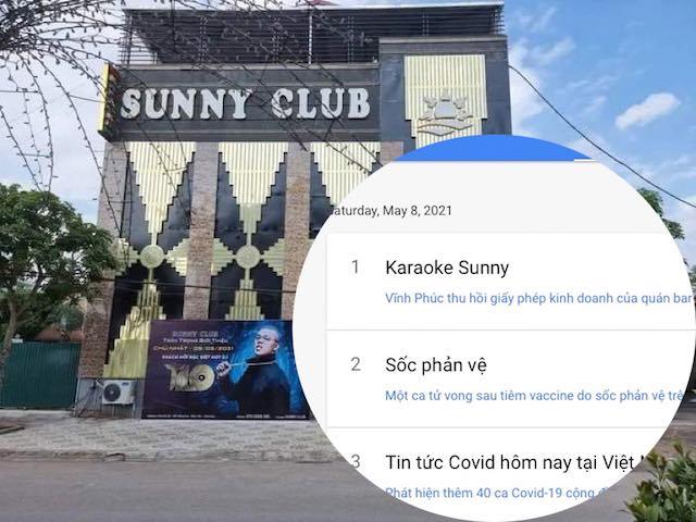 'Karaoke Sunny' lên top 1 bảng xếp hạng tìm kiếm Google