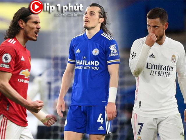 """MU - Leicester dễ """"buông"""" đua top 4, Real phán quyết Hazard trước """"chung kết"""" La Liga (Clip 1 phút Bóng đá 24H)"""