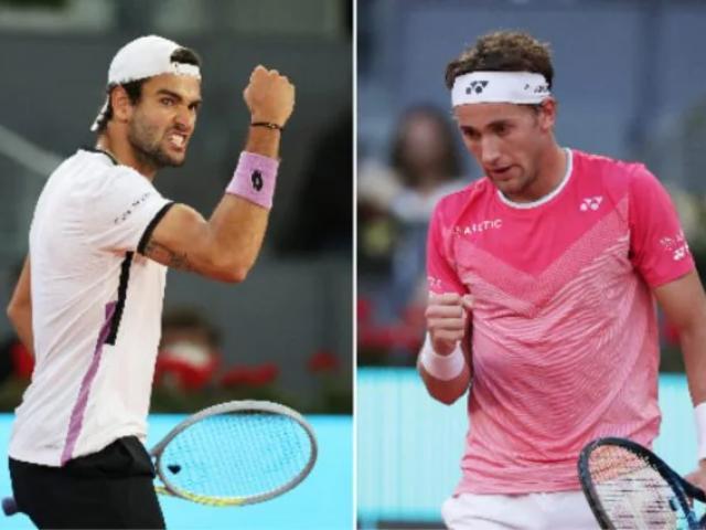 """Video tennis Ruud - Berrettini: Thuần phục """"ngựa ô"""", hiên ngang vào chung kết (BK Madrid Open)"""