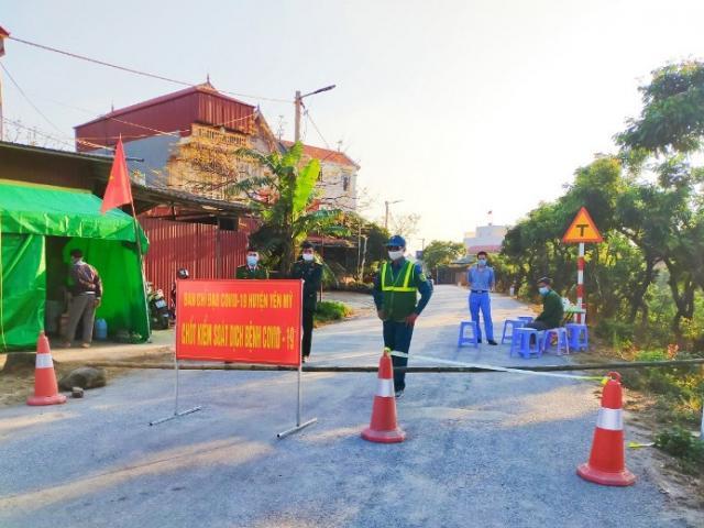 Hưng Yên: Giãn cách xã hội toàn bộ thị xã Mỹ Hào và 5 xã của huyện Khoái Châu