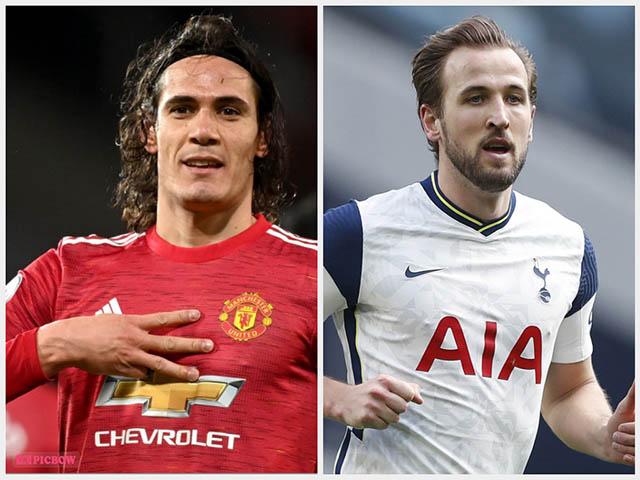 """MU """"trói chân"""" Cavani vẫn quyết mua Kane, hàng công siêu khủng đấu Man City"""