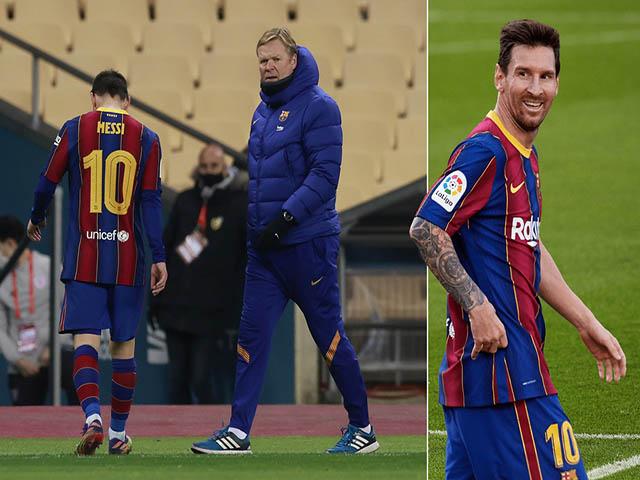 """Messi mâu thuẫn với HLV Koeman: Sếp lớn tính sa thải, """"Pep mới"""" thay thế"""