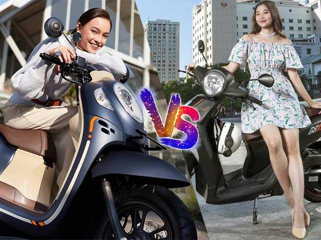 """Xe ga đi phố cho chị em """"bánh bèo"""" nên chọn Yamaha Janus hay Honda Scoopy?"""