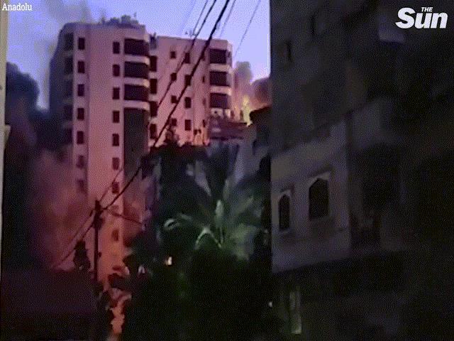 Video: Israel không kích sập tòa nhà 13 tầng, Hamas đáp trả bằng 130 quả rocket