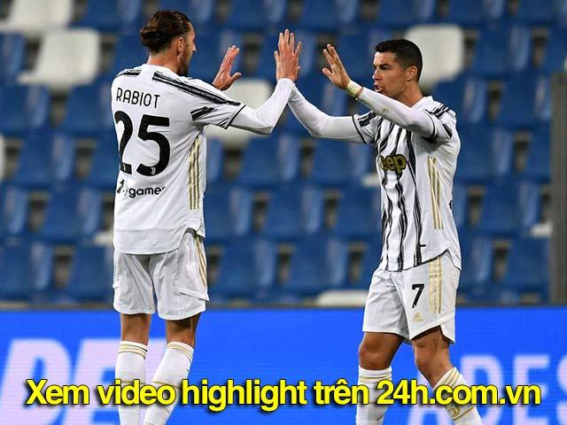Video Sassuolo - Juventus: 2 siêu sao chạm mốc 100 bàn, làm nóng derby Italia