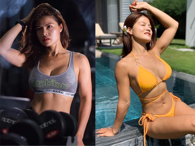 Hot girl tập Gym vòng ba 98 cm Tâm Tây giảm 18kg, giành HCV bikini fitness