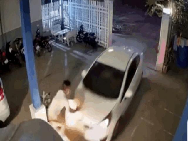 Đạp nhầm chân ga, tài xế húc thẳng vào thanh niên lơ xe