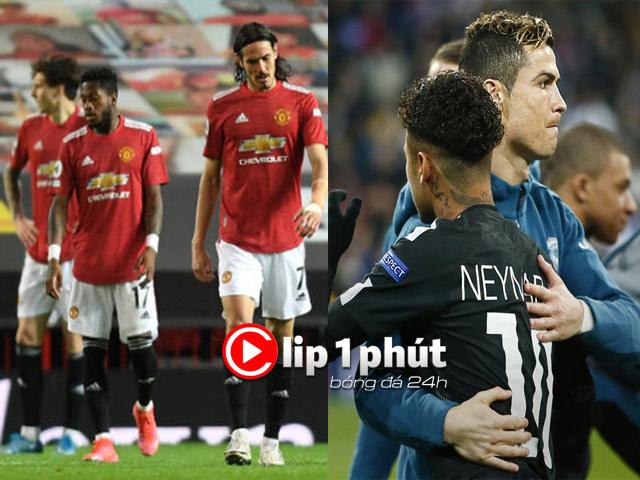"""MU thua Liverpool bị tố """"giấu bài"""", PSG muốn đón Ronaldo nhờ """"điệp viên"""" Neymar (Clip 1 phút Bóng đá 24H)"""