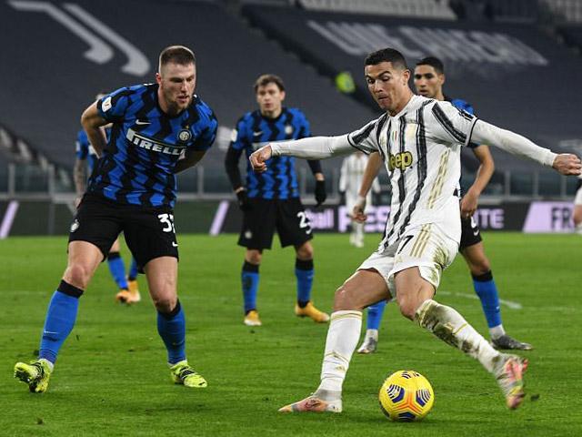 """Nhận định bóng đá Juventus – Inter Milan: Đường cùng của """"Bà đầm già"""", Ronaldo khó cứu"""