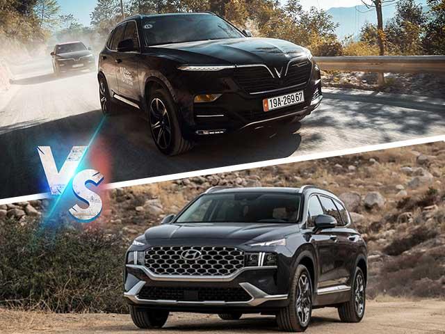 """VinFast Lux SA2.0 vs Hyundai SantaFe: Bạn sẽ chọn xế Hàn hay Việt khi """"vác"""" hơn 1 tỷ đi mua xe?"""