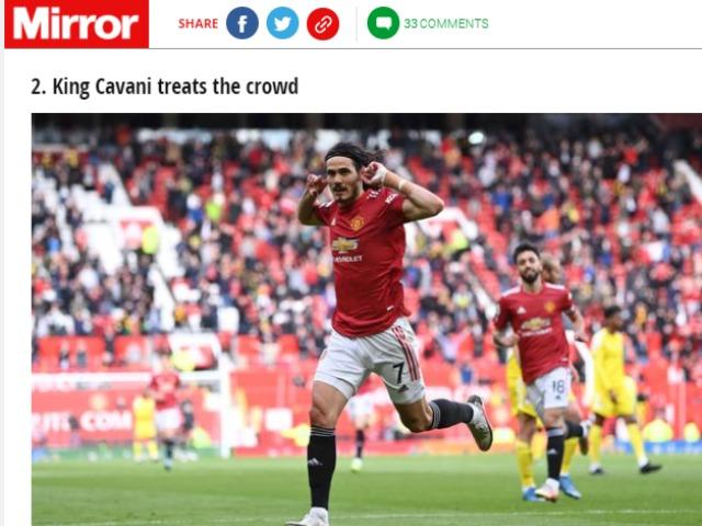Cavani ghi siêu phẩm từ xa, báo Anh khuyên MU không cần mua Harry Kane