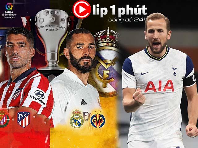 Real khó cản Atletico vô địch La Liga, Liverpool bất ngờ tranh Harry Kane (Clip 1 phút Bóng đá 24H)