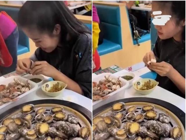 """Đi ăn buffetcô gái """"chén"""" 100 con bào ngư, phản ứng khó chịu của nhà hàng gây tranh cãi"""