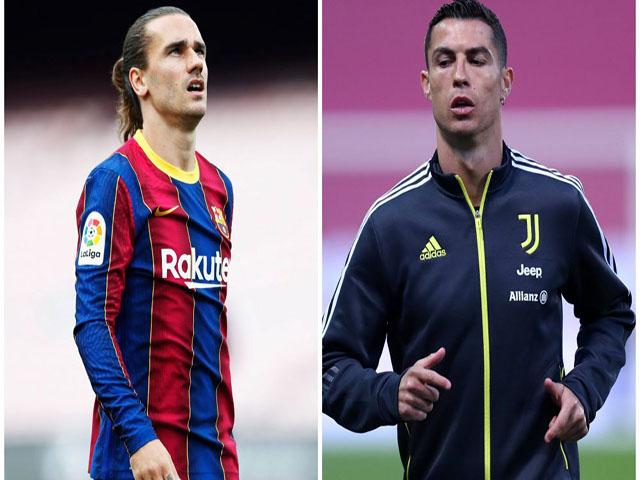 """Juventus mở màn """"bom tấn"""" mùa hè, tính đưa Griezmann về thay Ronaldo"""
