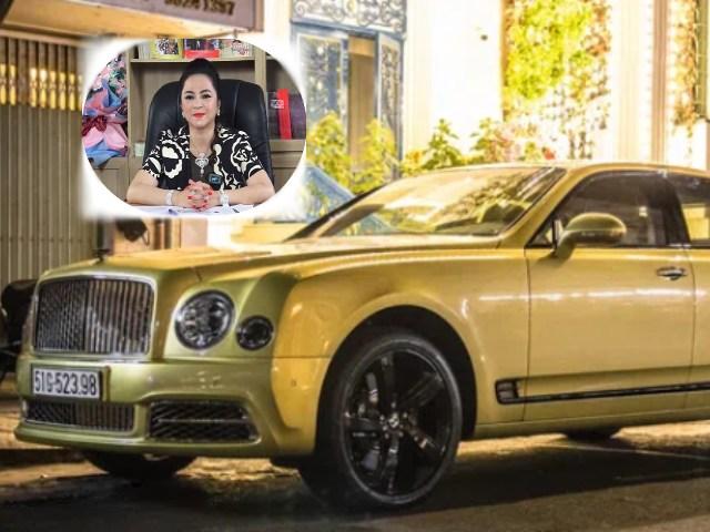 Choáng ngợp siêu xe Bentley Mulsanne 50 tỷ của bà Phương Hằng