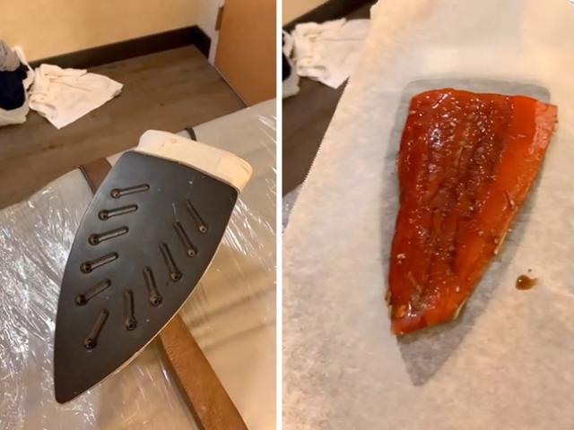 Chàng trai nấu ăn chỉ với những thứ có sẵn trong phòng khách sạn
