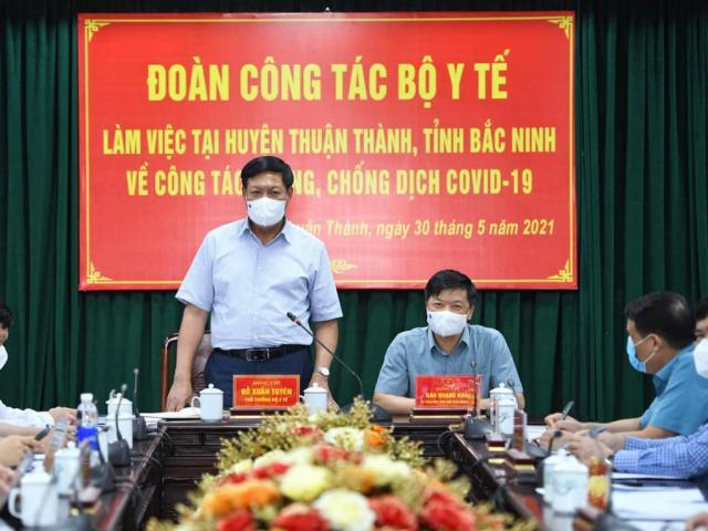 Thứ trưởng Bộ Y tế Đỗ Xuân Tuyên: 5 lưu ý để dập dịch ở Bắc Ninh