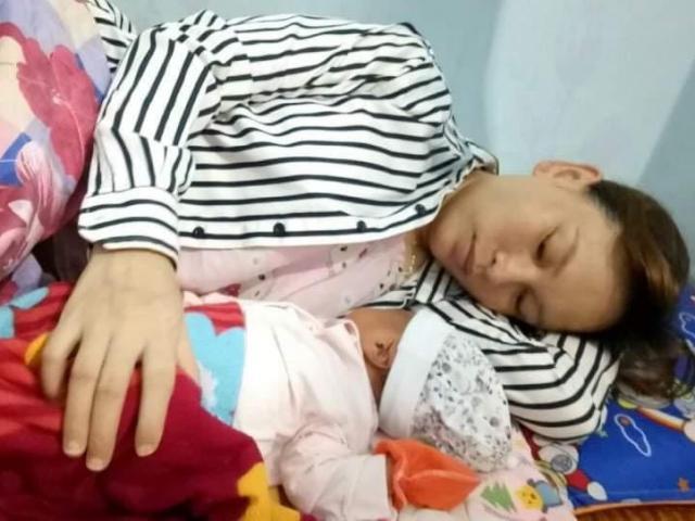 Nữ công nhân ở khu vực cách ly xã hội sinh con ngay tại phòng trọ