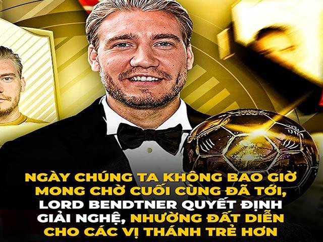 """Ảnh chế: Fan bóng đá tiếc nuối khi """"đấng tối cao"""" Lord Bendtner giải nghệ"""