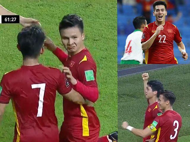"""Việt Nam """"xé lưới"""" Indonesia 4-0, bạn gái cũ làm điều bất ngờ khi Quang Hải ghi bàn"""