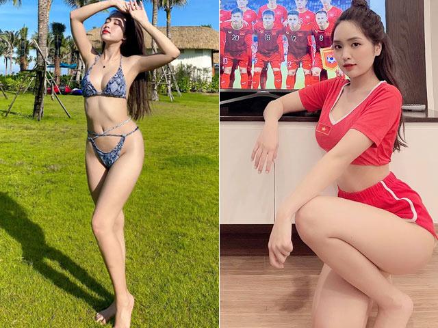 Ngồi nhà xem tuyển Việt Nam thi đấu, nữ CĐV vẫn gây chú ý vì quá xinh
