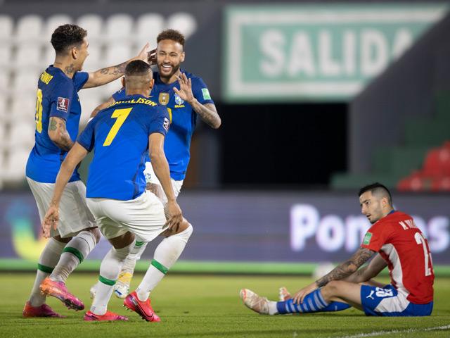 Trực tiếp bóng đá Paraguay - Brazil: Miệt mài tìm bàn gỡ
